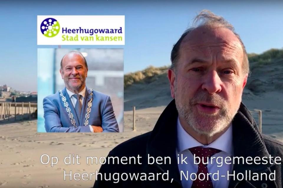 Bert Blase solliciteerde in een videoclip naar het burgemeesterschap van Den Haag.
