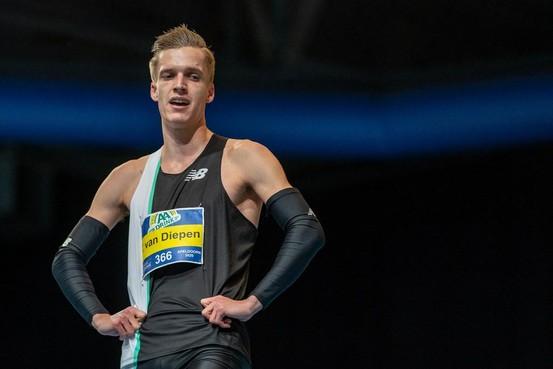 Atleet Tony van Diepen uit Heerhugowaard met overmacht naar derde indoortitel 400 meter
