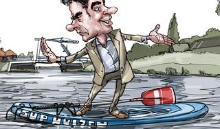 Wat is de les uit de Huizer sup-affaire? Gewoon, wees blij als het moet, maar streng als het kan! | cartoon Frank Muntjewerf