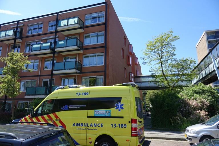 94-jarige man gewond bij brand in zorgcentrum Zaandam