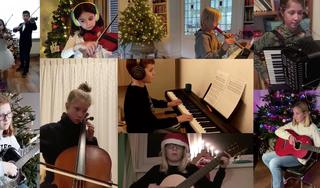 Muzikale kerstgroet van leerlingen Gooische Muziekschool Weesp [video]