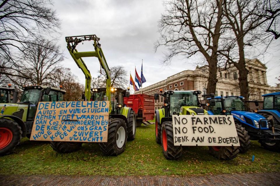 Boze boeren protesteerden in december tegen plannen om de veenweidegebieden te vernatten.