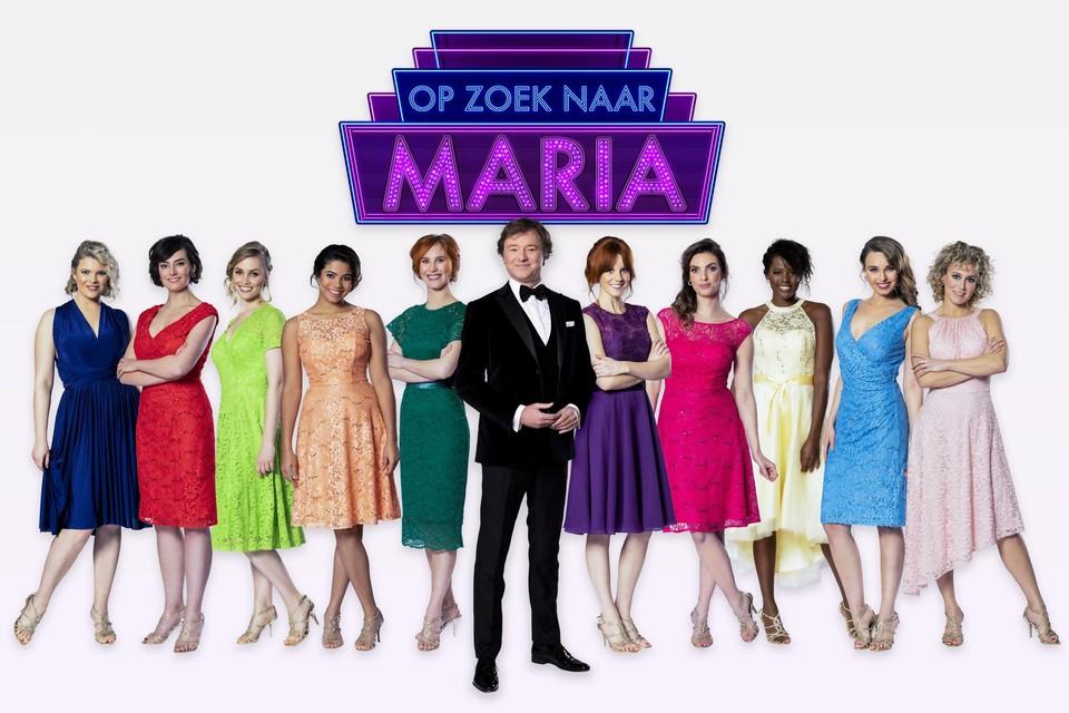 De kandidaten van het 'Op zoek naar Maria'.