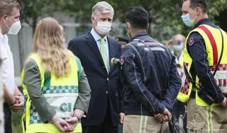 Belgische koning Filip bezoekt rampplek Antwerpen