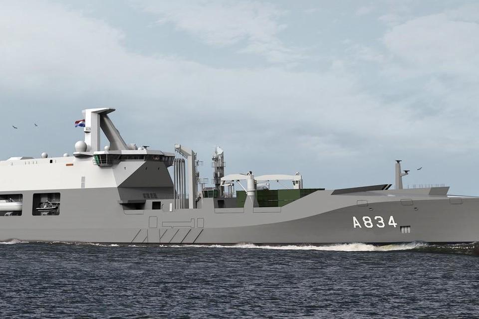 Het nieuwe schip Zr.Ms. Den Helder.