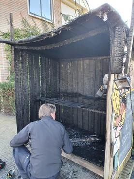 Broodkraam in brand gestoken in Berkhout, daders nog niet gepakt