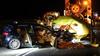 Drie (zwaar)gewonden nadat auto op waarschuwingswagen knalt op N247 bij Middelie [video]