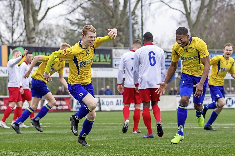 07-03-2020: Voetbal: Barendrecht v ODIN 59: Barendrecht 3e divisie seizoen 2019-2020 L Koen Tros van Odin 59, 0-2, juichen,