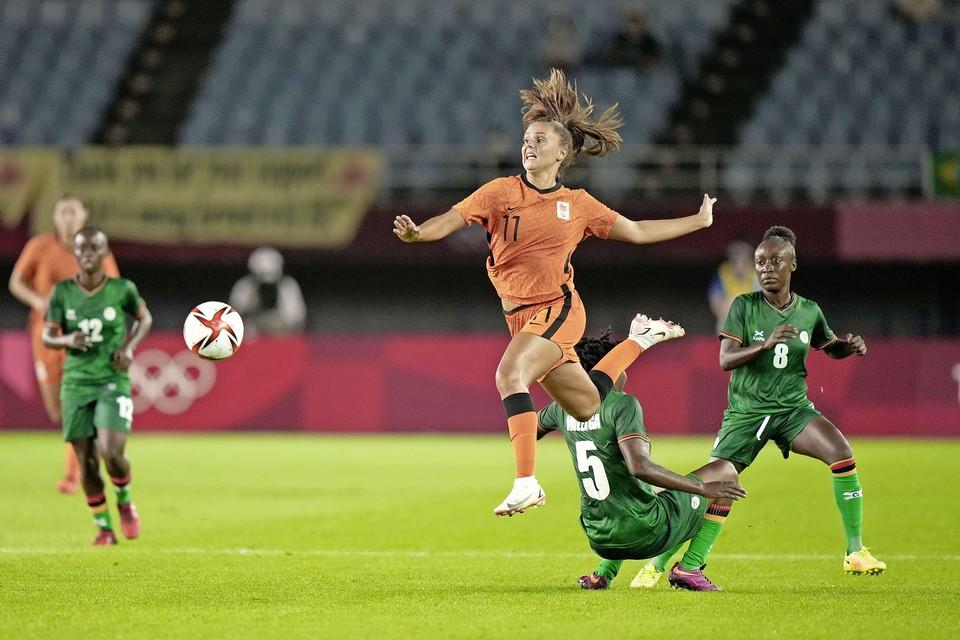 Lieke Martens maakt haar olympische debuut in de wedstrijd tegen Zambia.