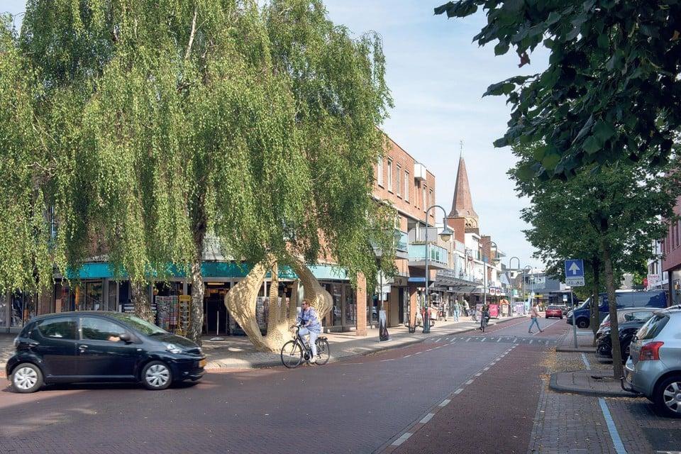 De Kerkweg in Heemskerk.