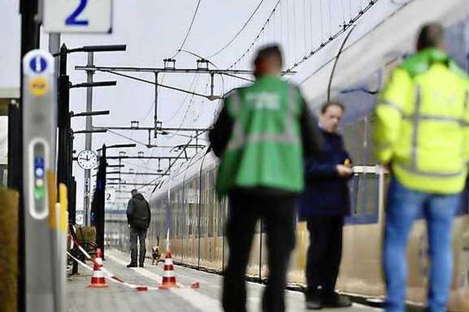 Politieonderzoek bij station Koog aan de Zaan.