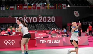 Badmintonsters Piek en Seinen verliezen ook van blazende airco: 'Wind tegen aan ene kant van het net'
