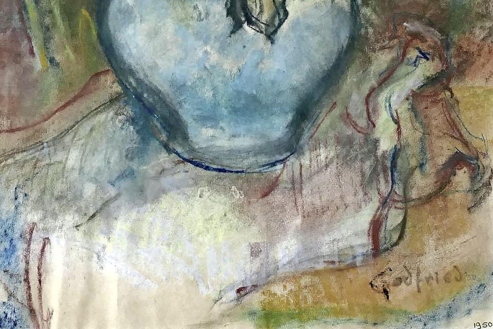 Het bewuste schilderij dat ten onrechte is toegeschreven aan Godfried Bomans.
