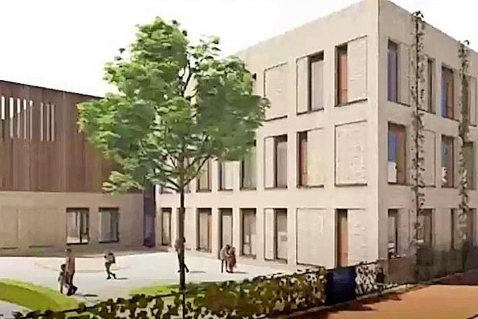 Het oorspronkelijke ontwerp van de school moet 251 m2 kleiner worden.