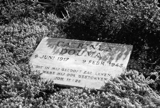 Verzetsheld Catrinus Douma (1917-1945) verdient zijn naam op zijn eigen plek in zijn Slootdorp