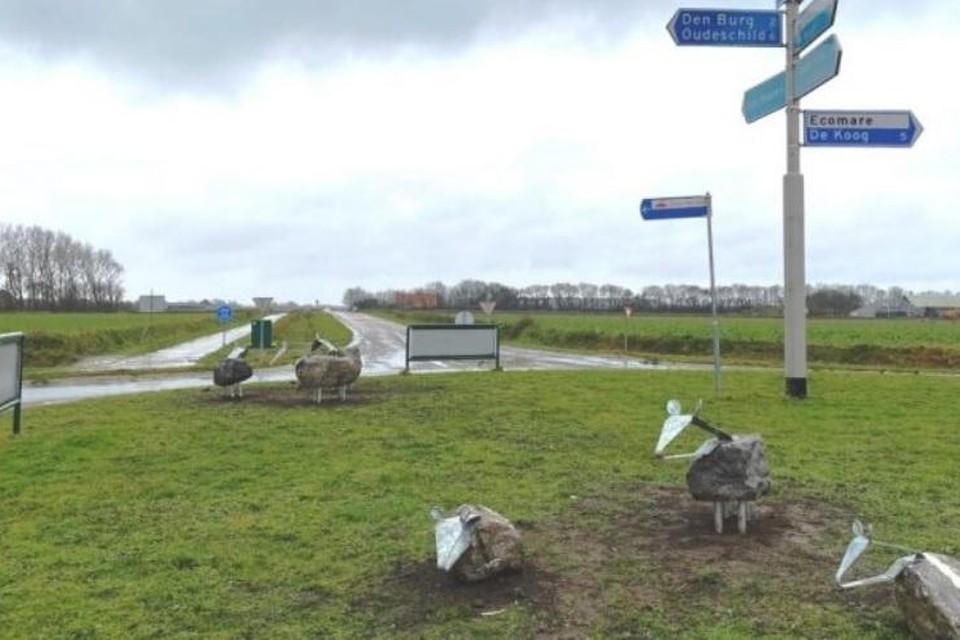 De beelden werden eind januari van dit jaar geplaatst op de rotonde Pontweg-Akenbuurt.
