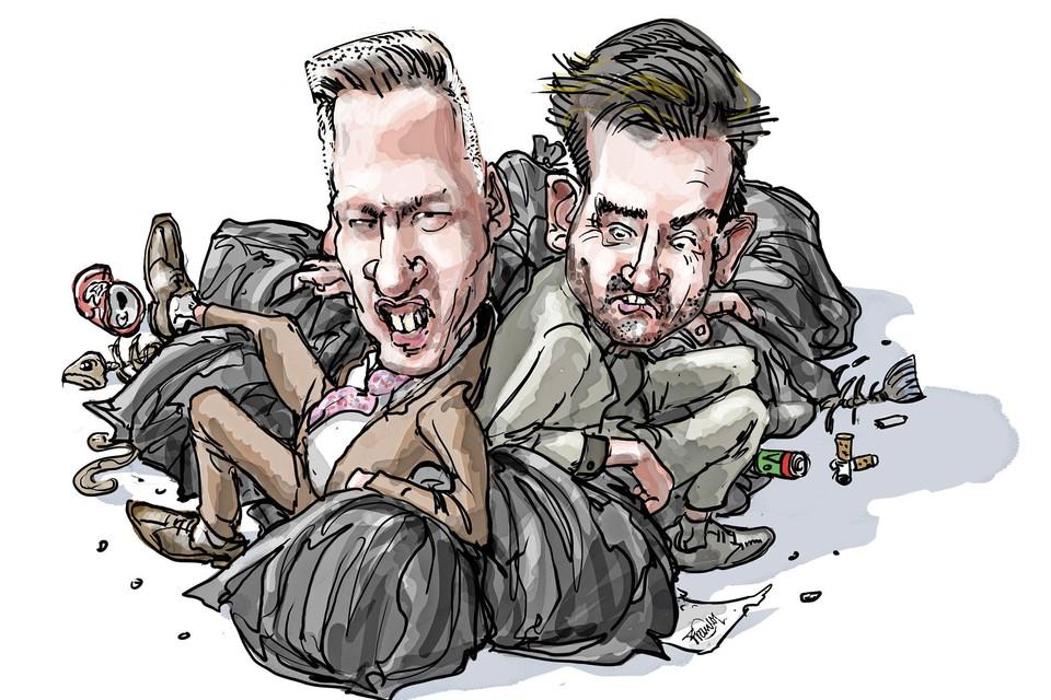 Wethouders Paul Verbruggen (PvdA) en Christian Braak (GroenLinks) werden via een motie van wantrouwen bij het vuil gezet.