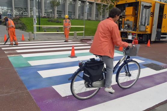 Regenboogzebra is klaar: de Pride Walk Hoorn kan beginnen
