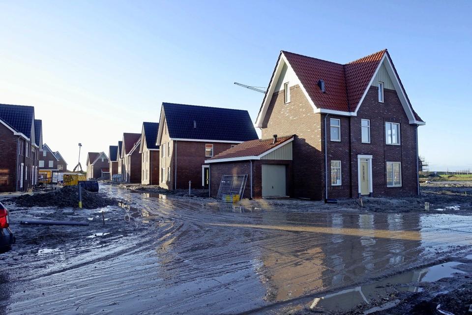 Nieuwbouw in Waterweide, Grootebroek. Stede Broec wil dat de hele regio een vast deel aan sociale huurwoningen gaat neerzetten.