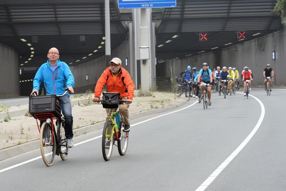 2013: Dam tot Dam Fietsclassic gaat door de IJtunnel.
