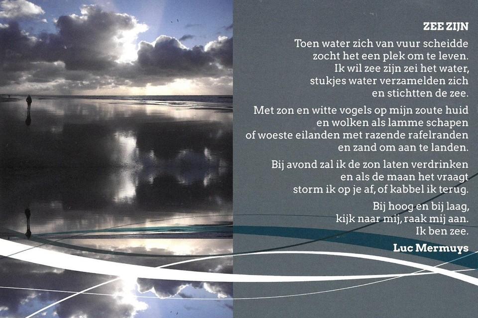 Een gedicht van Luc Mermuys, met een foto van Ilse Kootkar.