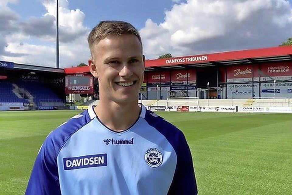 Robin Schouten in het shirt van SønderjyskE.