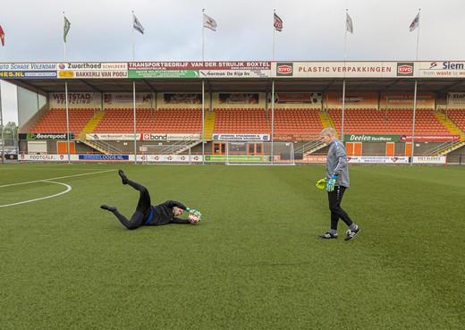 Mitchel Michaelis weet dat hij weer zal keepen voor FC Volendam, maar vermijdt een richtpunt: 'Alles wat maar kapot kon zijn, was ook kapot'