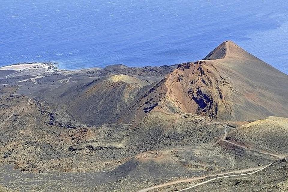 Een van de vele vulkaankraters op La Palma.