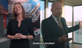 Velsense wethouder Verwoort heeft 'zitten gieren' om de grappen over Zeesluis IJmuiden. 'Zo voor de hand liggend dat ik er zelf nooit was opgekomen'