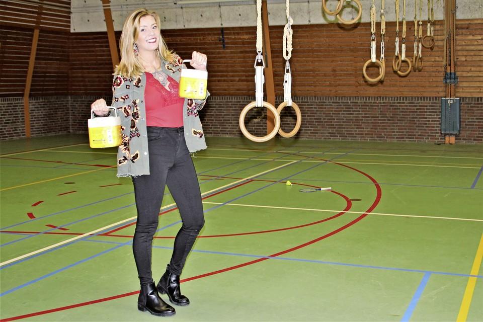 Adinda van Oorschot, maandag nog vol goede moed in De Watering.