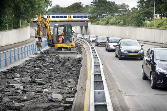 Zes weken vertraging door werkzaamheden aan tunnelbak in Driehuis