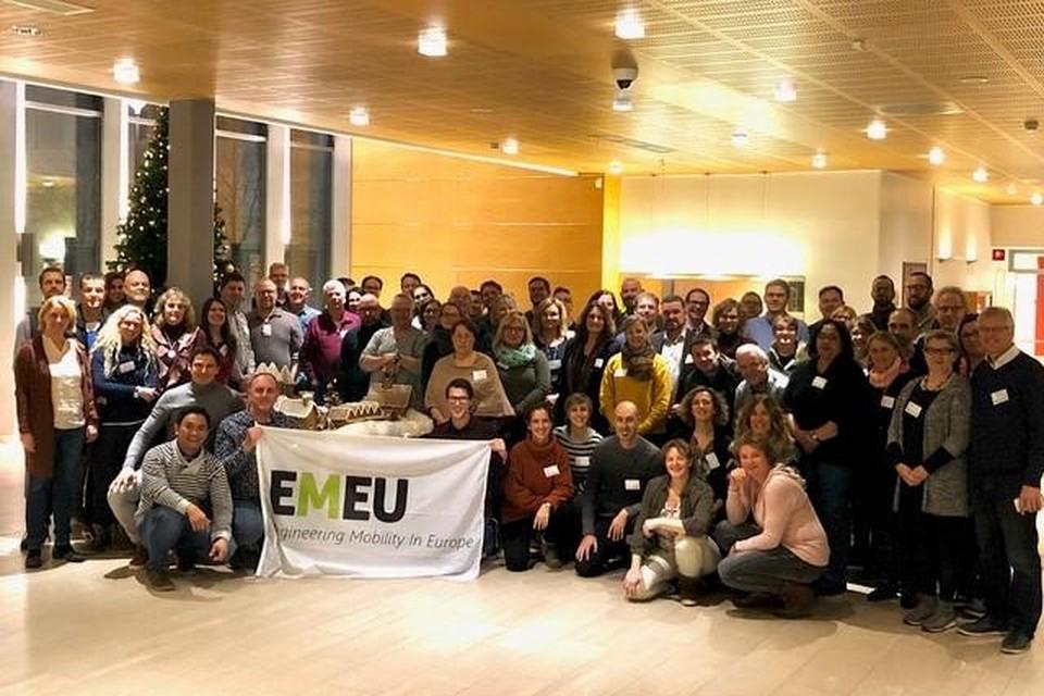 De EMEU4all-bijeenkomst waar docenten van het Horizon College aan deelnamen, met helemaal rechts Frans van Schaik.