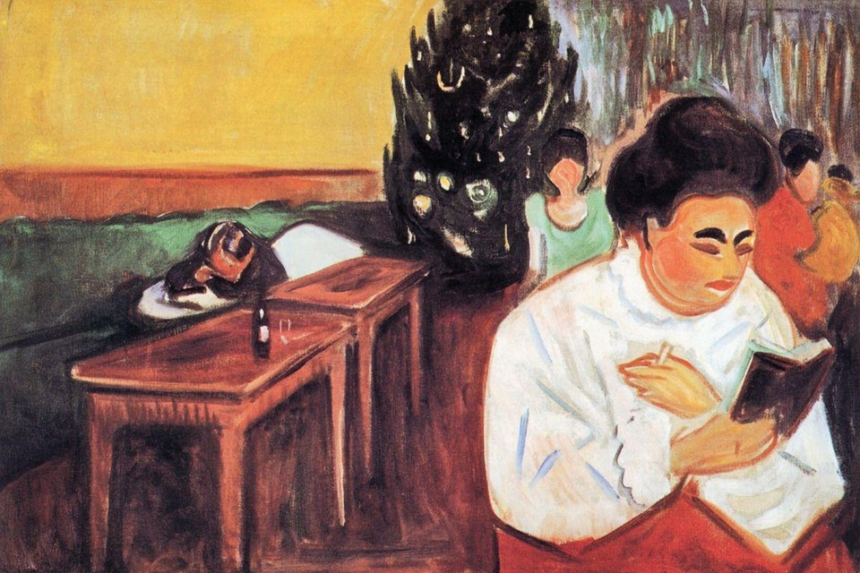 Edvard Munch schilderde 'Kerstmis in het bordeel' (1904-1905)