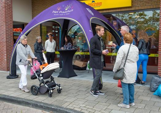 Tent fungeert als 'praathuis' voor inwoners van Edam-Volendam die willen meedenken over de toekomst