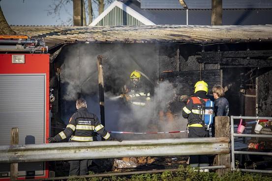 Man (53) aangehouden voor brandstichting paardenstallen in Halfweg