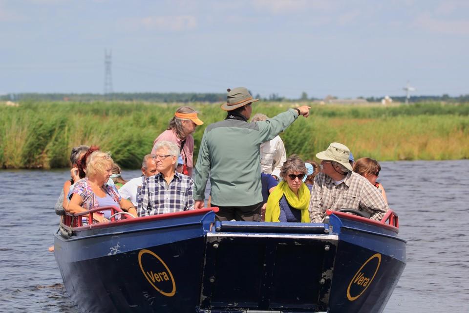 Een excursie van enkele jaren geleden, met een volle boot.