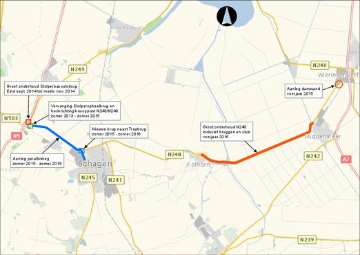 Ook N245/Westerweg in Schagen gaat op de schop
