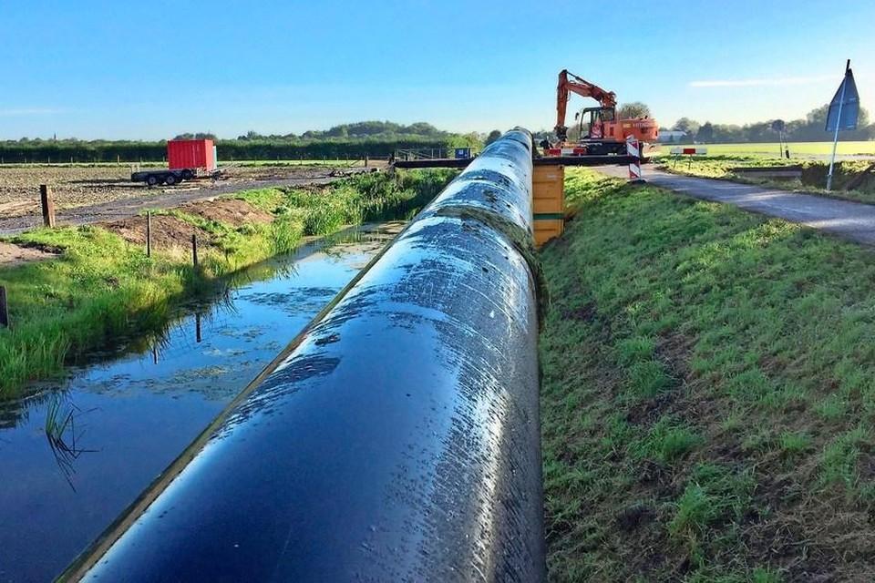 PWN verving in 2018-2019 al de watertransportleiding tussen Westwoud en Blokker.