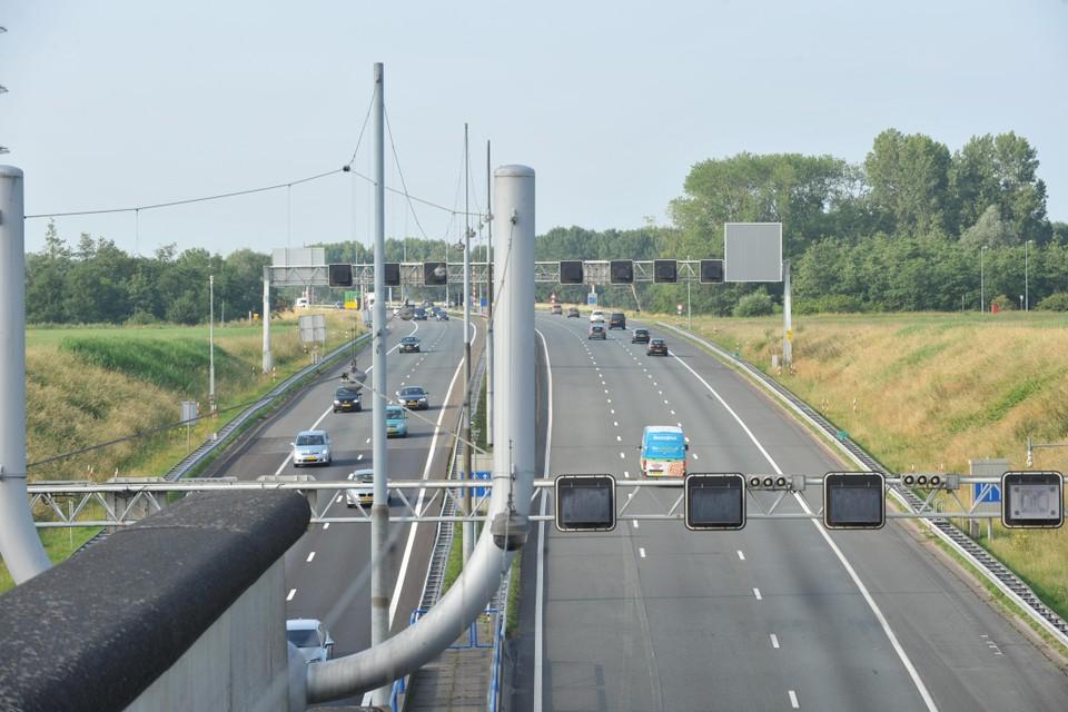 De Wijkertunnel richting Haarlem.