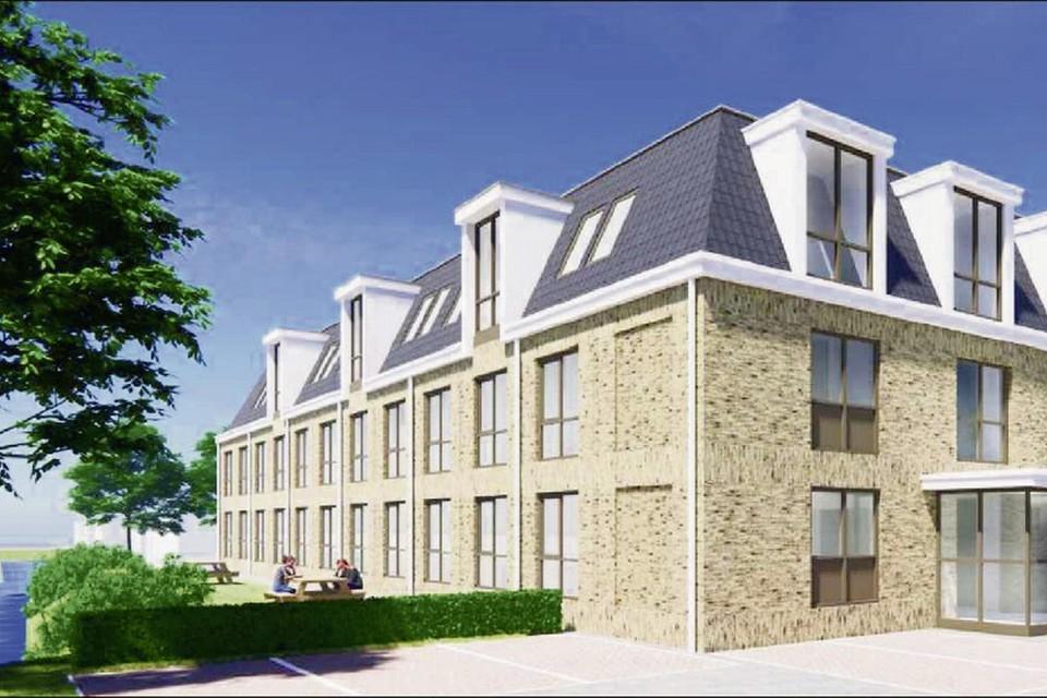 Een impressie van hoe het logiesgebouw aan de Waterkant in Spanbroek eruit komt te zien.