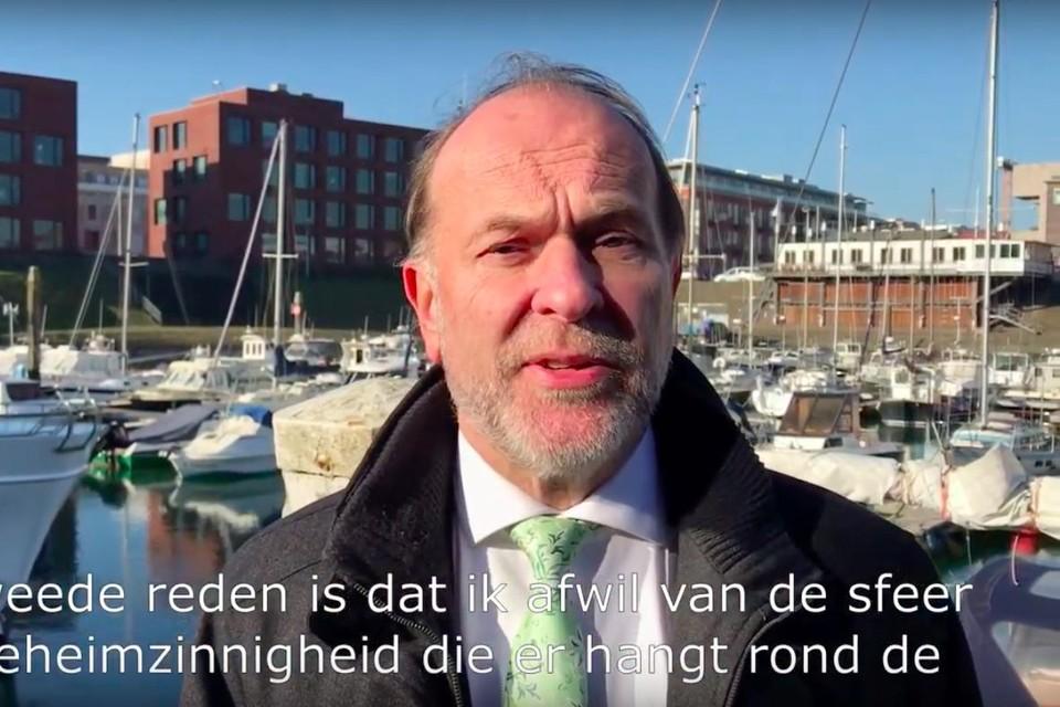 Bert Blase in de haven van Scheveningen.