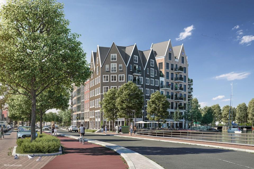 Het ontwerp voor de appartementen aan de Gedempte Where.
