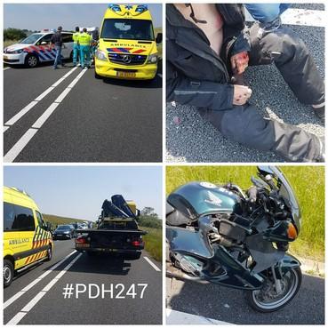 Motorrijder gewond bij val op N99