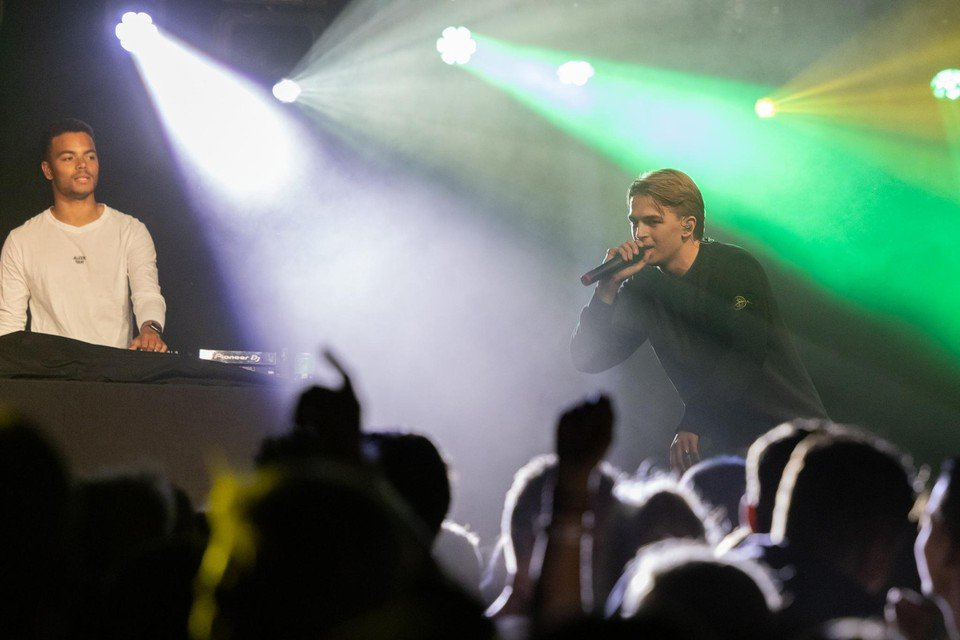 Rapper Antoon - in Midwoud kennen ze hem ook als Valentijn Verkerk - wist niet wat hij meemaakte tijdens Snertpop.