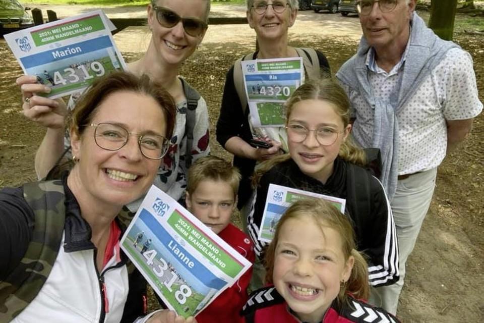 Deelnemers aan de 40MM dit jaar: Lianne Breg met haar familie.