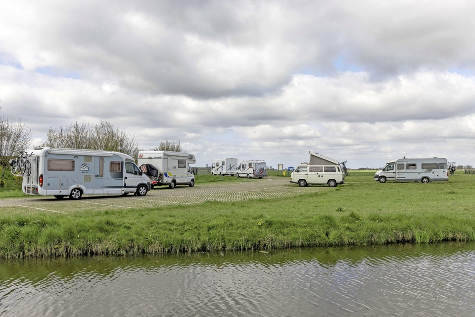 De camperplaats in Spanbroek.