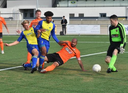 Missie geslaagd na Alkmaarse bekerderby: Jong Holland en AFC'34 bereiken beide de knock-outfase