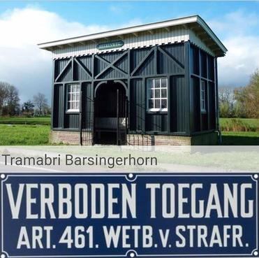 De klassieke tramabri in Barsingerhorn is afgesloten om vernielingen, jeugd niet meer welkom