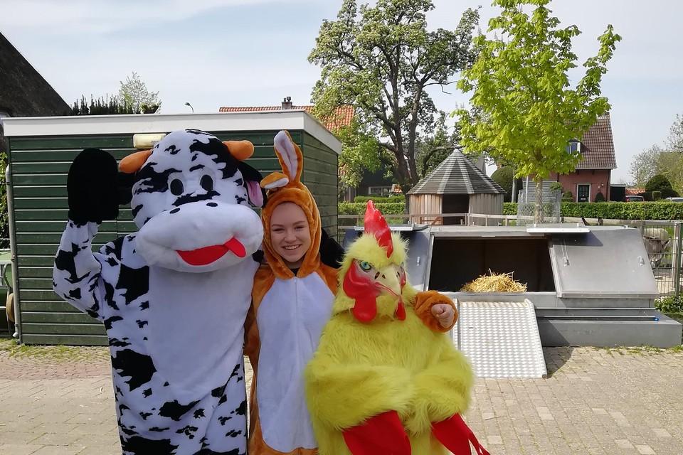 Op tweede paasdag was het Grote Paasfeest bij kinderboerderij De Woid.