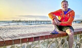Openwaterzwemmer Ferry Weertman, de regerend olympisch kampioen uit Naarden, start aanloop naar de Spelen met achtste plaats in wereldbekerwedstrijd in Dohan